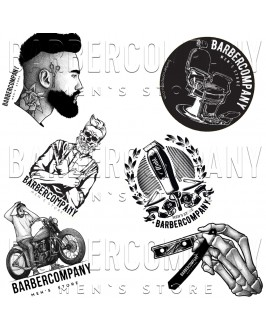 Набор наклеек Barbercompany №1