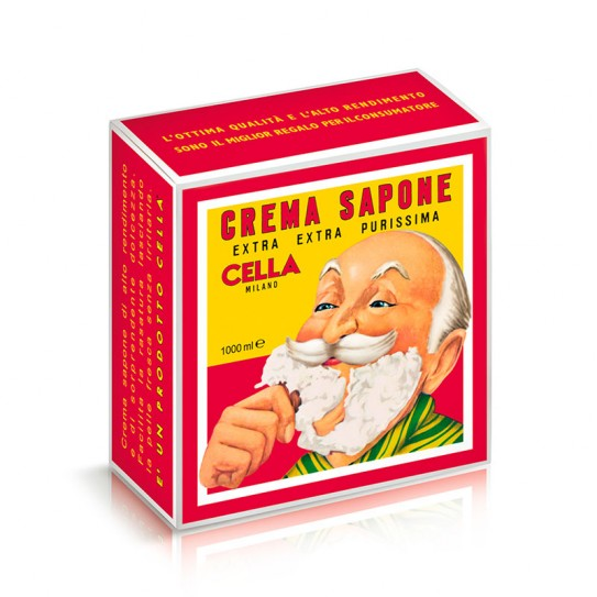 Крем для Бритья Cella Crema Da Barba Barber Collection с Маслом Миндаля 1000 мл