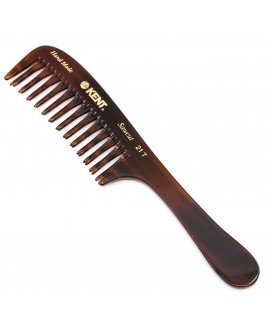 Гребень Kent A 21T Hand Made Curved Double-Row Detangling Comb, 7.5 Inch, 1 Ounce