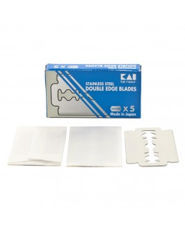 Лезвия Kai Stainless Steel Double Edge Razor Blades 5 шт