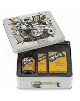 Набор Для Бороды Proraso Metal Box Beard Care Wood & Spice Gift Set