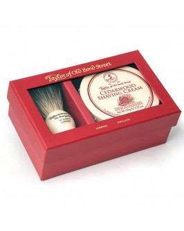 Подарочный набор для бритья Taylor of Old Bond Street Shaving Brush & Cedarwood Shaving Cream 150 гр