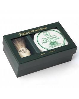 Подарочный набор для бритья Taylor of Old Bond Street Shaving Brush & Pepermint Shaving Cream 150 гр
