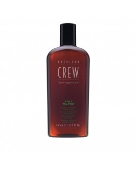 Шампунь (3 в 1) American Crew Shampoo, Conditioner and Body Wash Tea Tree 450 мл